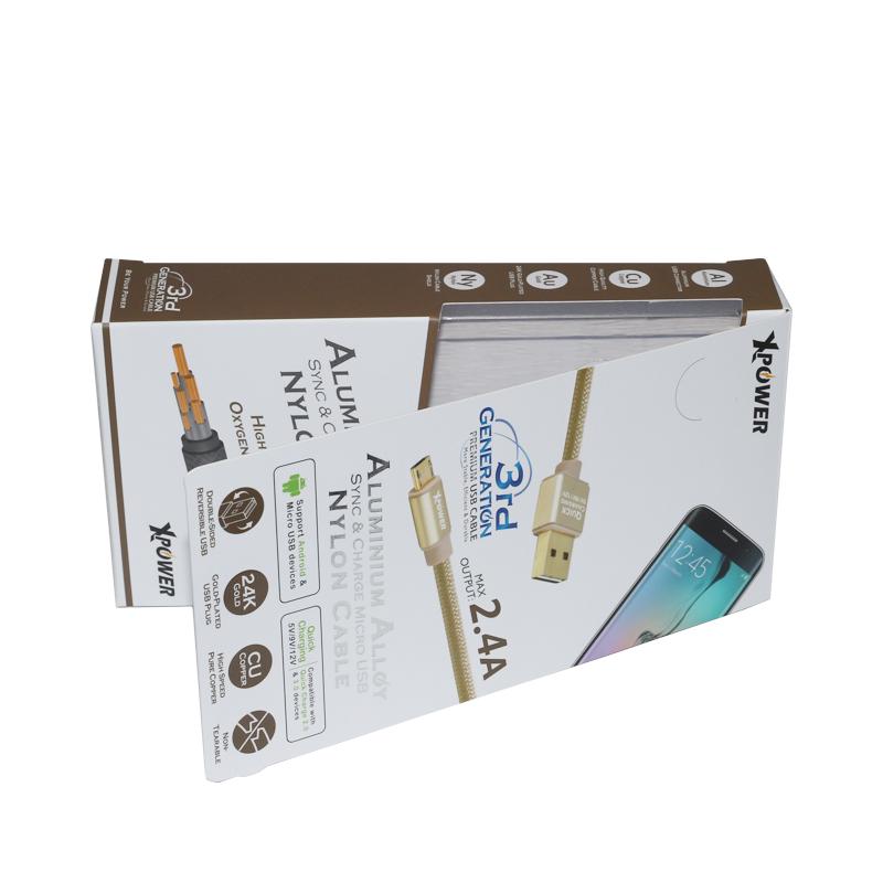 手机配件彩盒吸塑翻盖包装盒