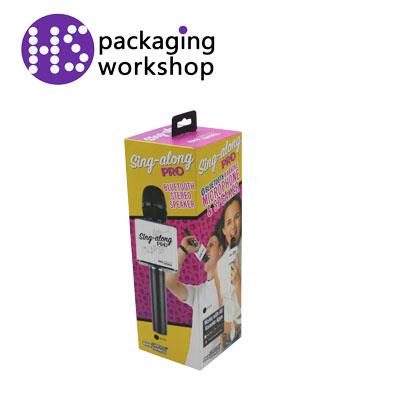 话筒包装盒 高质量盖盒 吸塑内盒