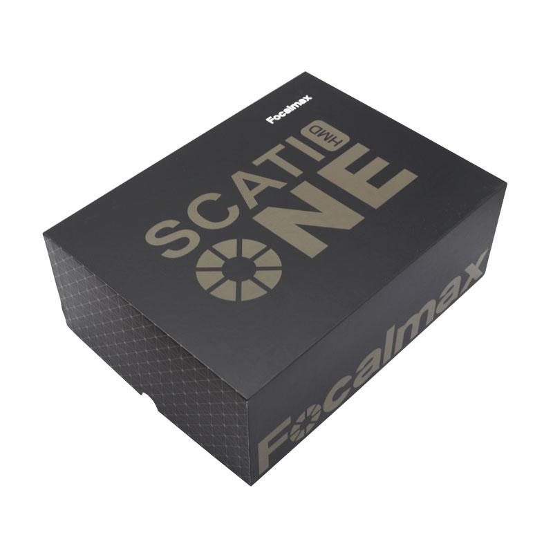 黑色天地盖手工盒,定制鞋盒