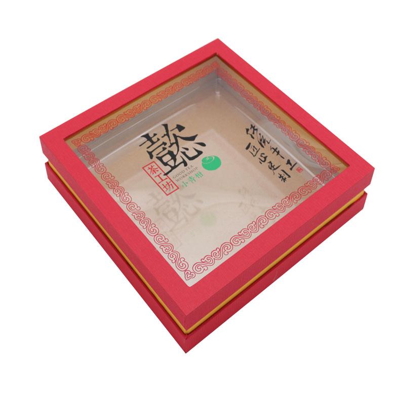 茶叶礼品手工盒,翻盖胶盒
