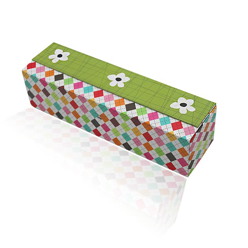 定制特色花纹折叠硬礼盒,精美礼品磁铁翻盖盒