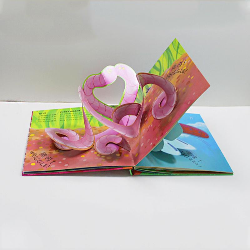 儿童益智识字书,定制立体绘本