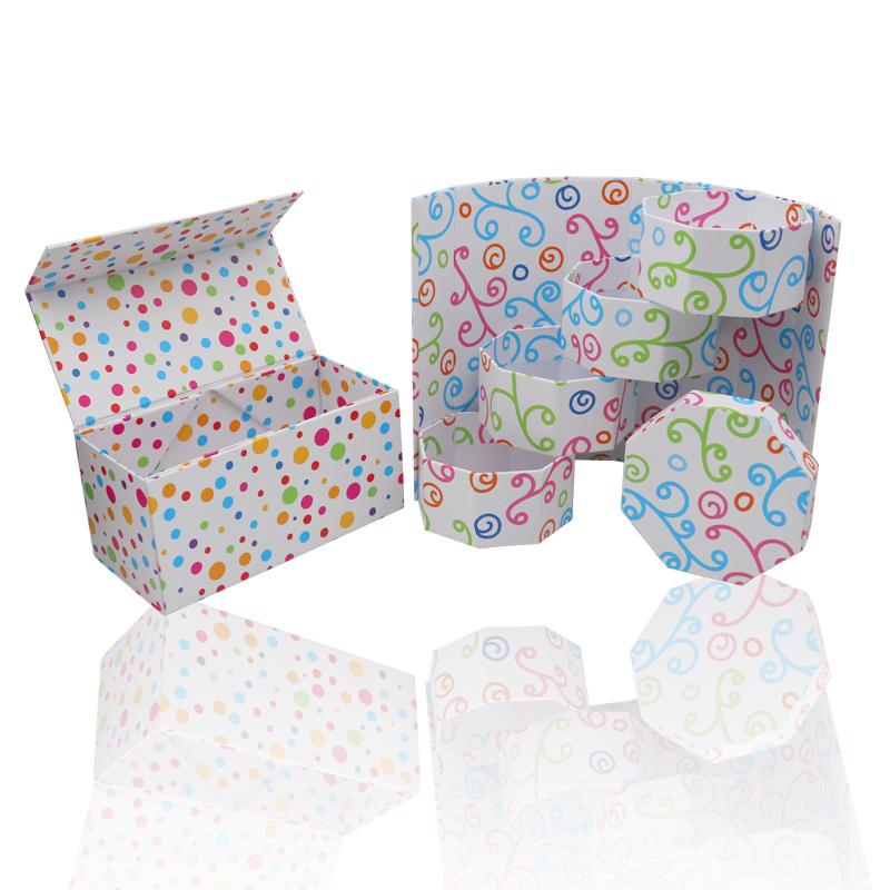 异型礼品盒、旋转梯形折叠磁铁盒,收纳盒圆筒盒