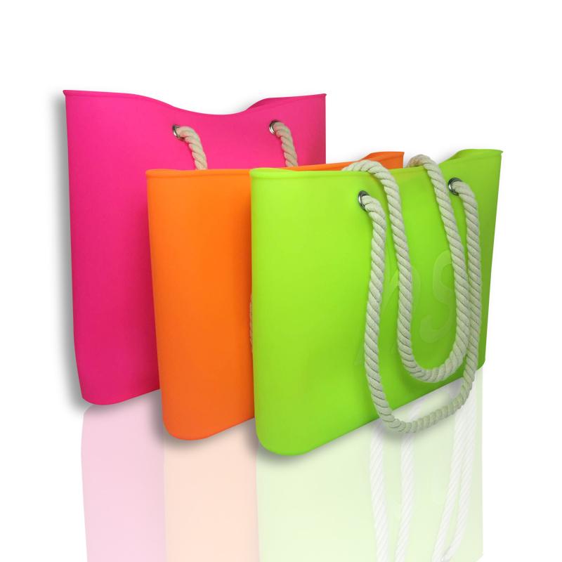 硅胶手提袋,购物包麻绳手提绳,定制logo