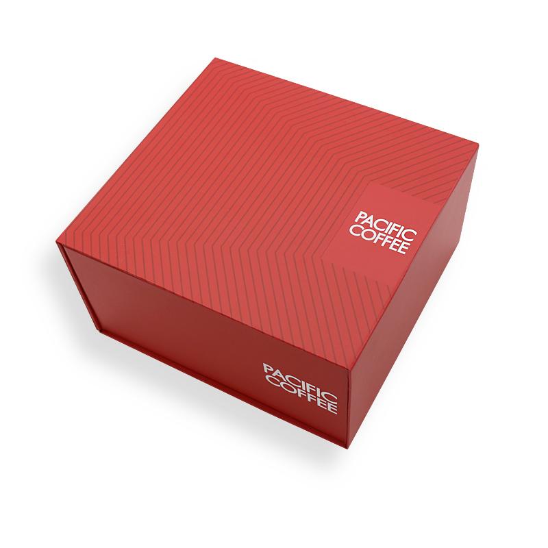 折叠硬礼盒包装咖啡包装手工盒定制