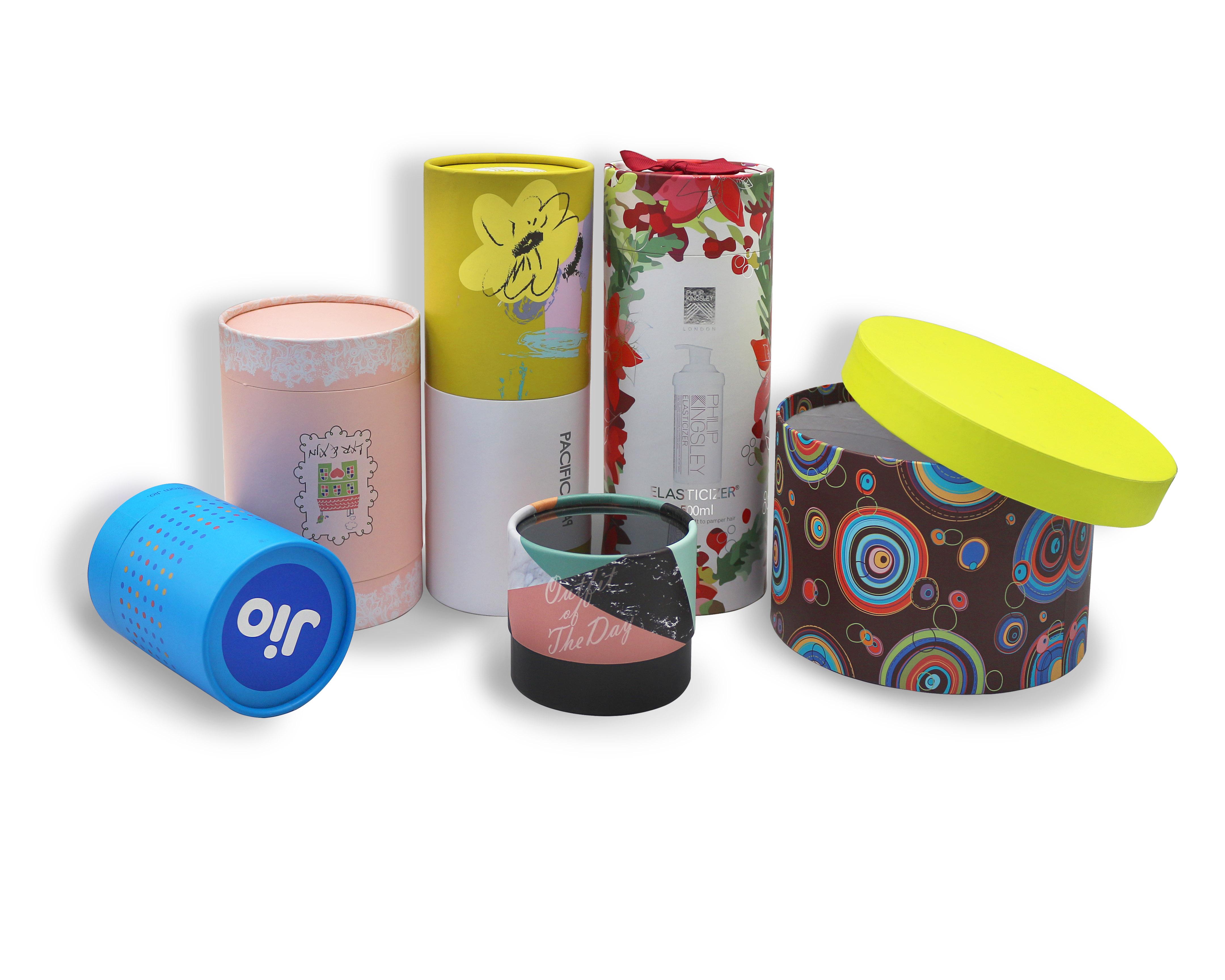精品圆筒盒牛皮包装盒窗口圆筒手表盒定制生产