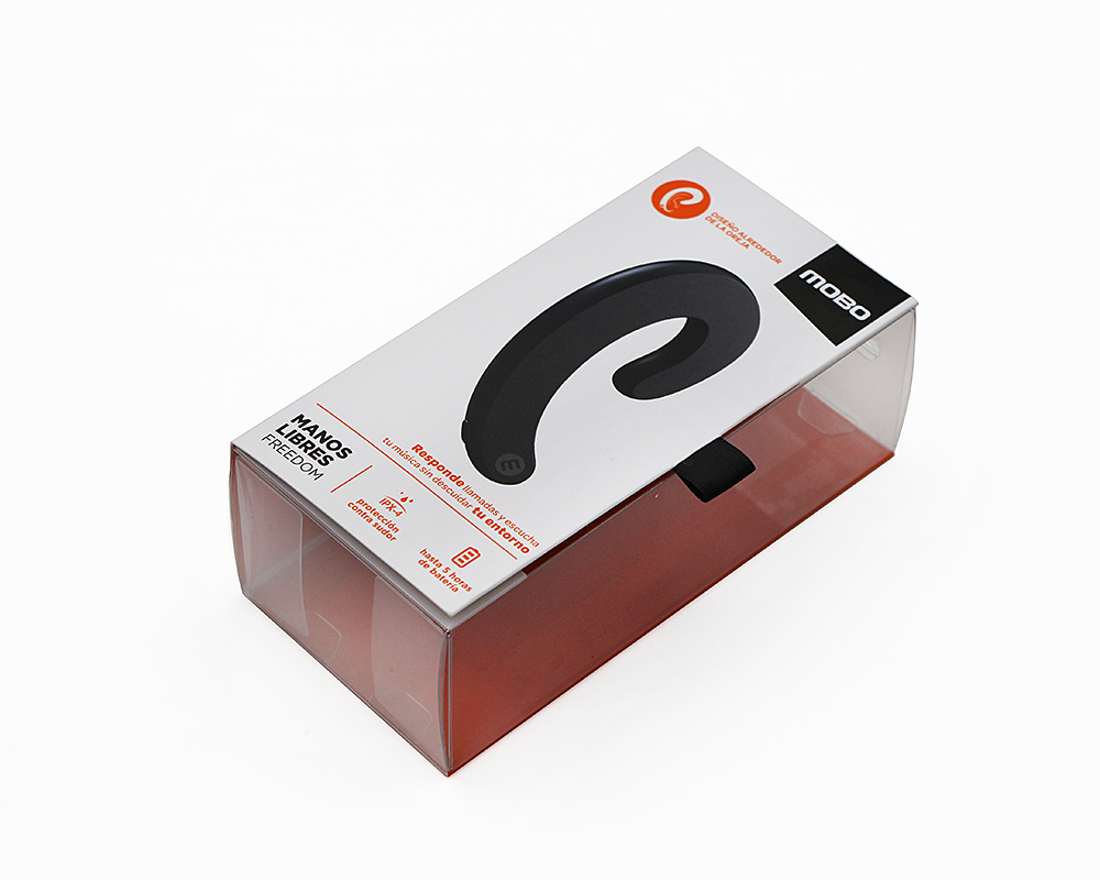 运动蓝牙耳机胶盒包装,透明PVC、PET盒包装厂家定制