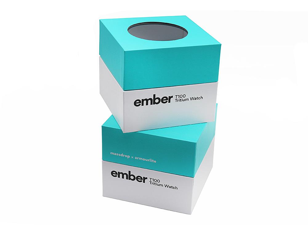 手表手工盒天地盖包装盒,透明窗口厂家定制印刷logo