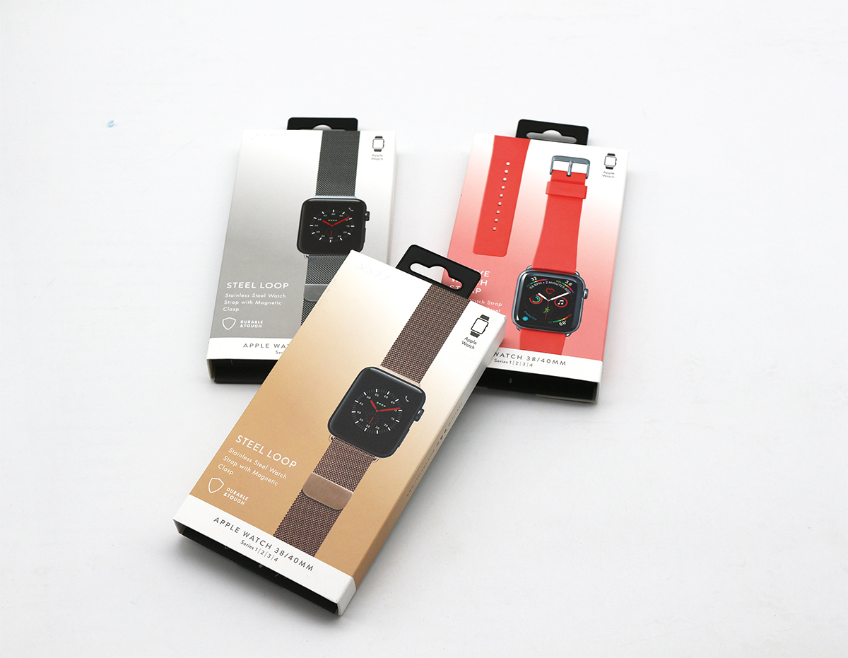 厂家定制手表带包装盒,挂钩抽屉盒内部EVA可定制印刷logo
