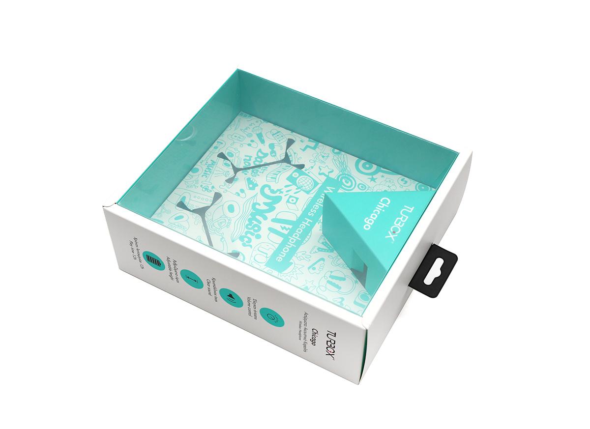 高质量透明吸塑耳机包装,厂家定制logo