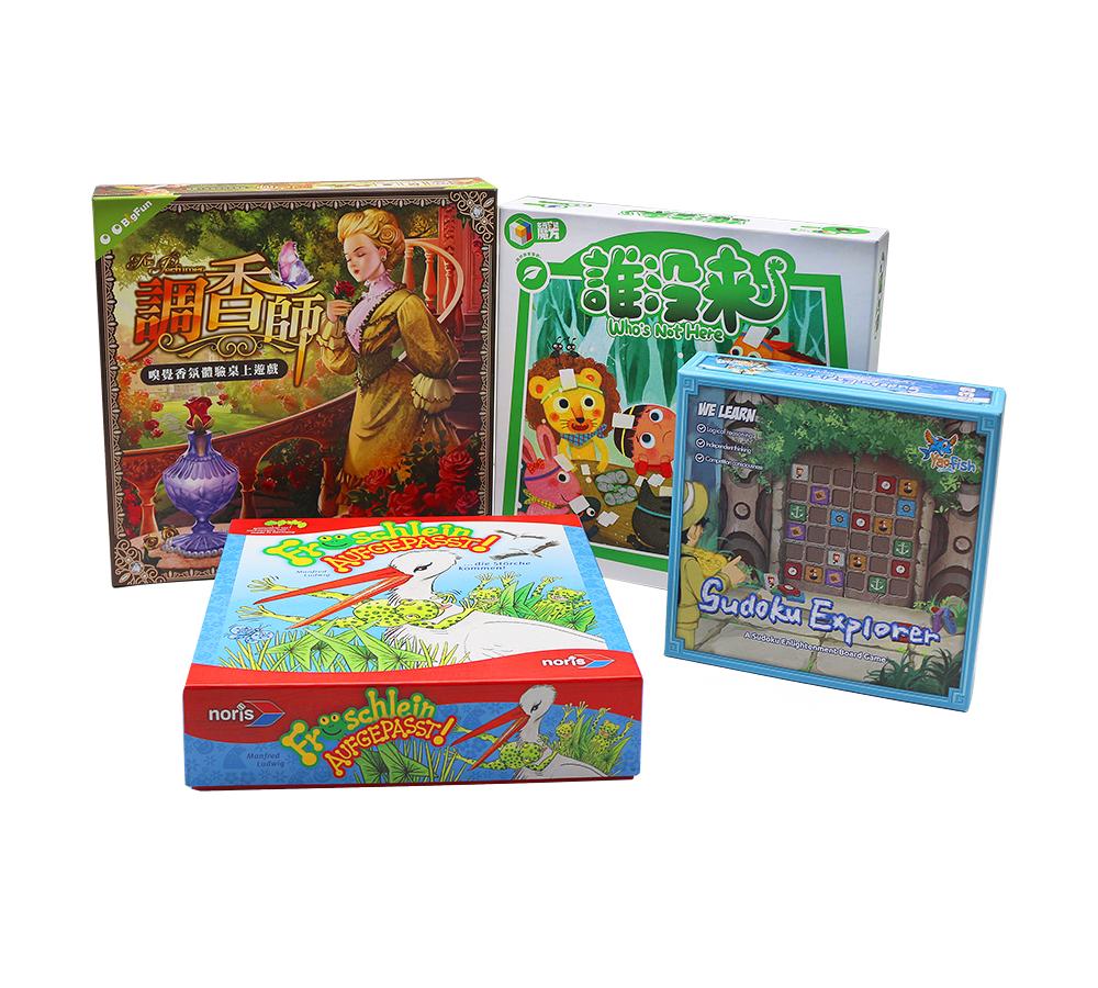 厂家定制桌面桌游系列包装盒 棋盘代币卡牌吸塑包装彩盒