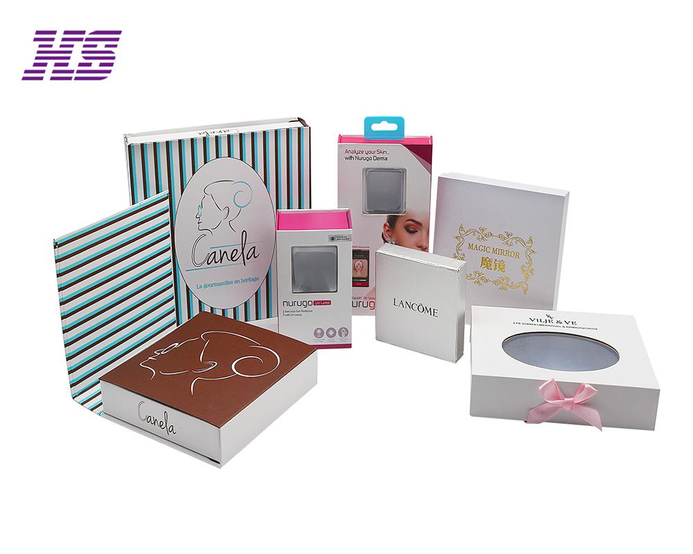 定制化妆品包装礼盒高档白卡纸包装盒定做面膜翻盖礼品盒