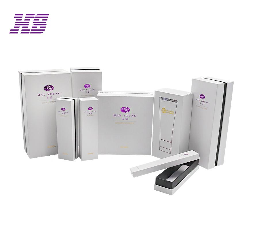 专业生产化妆品手工精品盒 灰板硬质天地盖包装盒加工定制