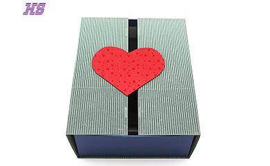 厂家定制礼品高档手工盒、磁铁翻盖设计